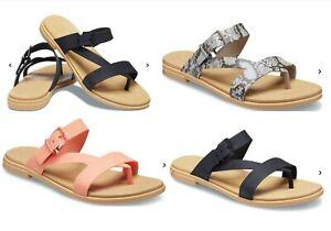 CROCS Tulum Flip Flop Thong Sandals Black, Mushroom Snake, Yellow, Pink vegan