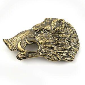 Belt buckle Wild boar head, Handmade hunter trophy wild boar,