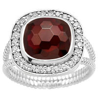 Simulated Hessonite Garnet 925 Sterling Silver Ring Jewelry Size 6-9 DGR1072_J