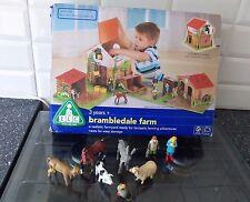 ELC WOODEN BRAMBLEDALE FARM IN ORIGINAL BOX WITH ELC ANIMALS & FIGURES
