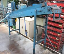 Motorised powered 2.8m long 500mm wide rubber belt lift conveyor system 1.7m h