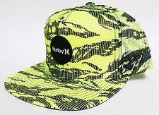 HURLEY KRUSH MESHER SNAPBACK Hat Yellow OSFA ($32) NEW All-Mesh Skate Camo Cap