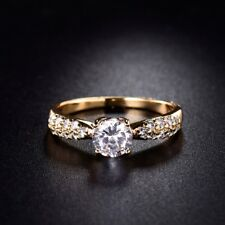 Fashion Jewellery Sapphrie Crystal 18K Gold Filled Chic Cheap Rings For Women