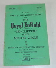 Catalogo parti Royal Enfield 350 Clipper OHV STAND 1958