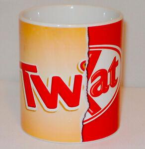 Funny Tw@t Chocolate Bar Wrapper Mug Can Personalise Rude Twix Choc Break Gift