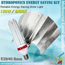 Hydroponics Energy Saving 130W 6400K CFL Grow Light Kit Aluminum Reflector Combo