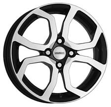 "15"" DEZENT TS DARK BLACK POLISHED ALLOY WHEELS ONLY NEW 4x100 RIMS"