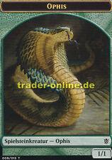 2x Spielstein - Ophis (Token - Snake) Khans of Tarkir Magic