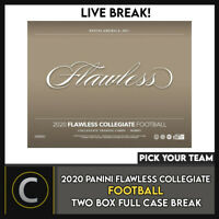 2020 PANINI FLAWLESS COLLEGIATE 2 BOX (FULL CASE) BREAK #F591 - PICK YOUR TEAM