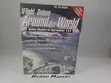 PERFECT FLIGHT DELUXE AROUND THE WORLD SCENERY ADVENTUR SIMULATOR 5 & 6 PC NUOVO