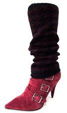 GUÊTRES CHEVILLERES JAMBIERES 40cm tricot pied de coq NOIR BRUN femme hiver NEUF