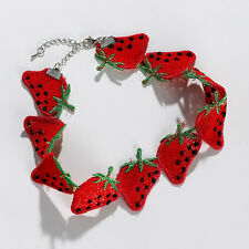 Strawberry choker,sexy choker for women,fruit pattern chocker,red color choker