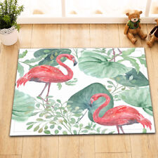 Outdoor Floor Welcome Front Porch Mat Collction NonSlip Floor Rug Flamingo Palm