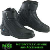 SPADA ICON WP MOTORCYCLE SPORTS SHORT BOOTS - BLACK NEW