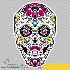 Ornamental Skull For Day Of The Dea Vinyl Sticker Decal Window Car Van Bike 2399