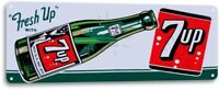 7-up Fresh Up Bottle Vintage Retro Tin Metal Sign