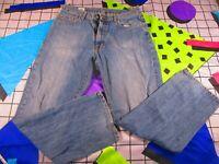 Vtg 90s lacoste designer denim jeans trousers reg straight cut