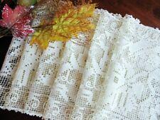 Wedding Set: 6 Antique Handmade Italian Lace Placemats -Grapes Leaves Vines Bosa
