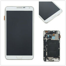 Pantalla completa LCD display marco para Samsung Galaxy Note 3 N9005 blanco