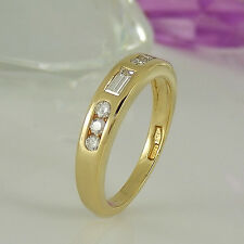 Ring  in 750/- Gelbgold mit 7 Diamanten ca 0,38 ct Wesselton vsi Gr. 48