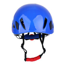 Safety Rock Climbing Helmet Hat Head Protector Rappelling Rescue Blue