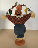 Scarecrow Jack-o-lantern Figure Halloween Tabletop Decor