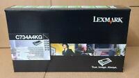 GENUINE LEXMARK C734A4KG BLACK TONER C734 C736 X734 X736 X738, SAMS AS C734A1KG