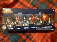 Official Tomy SONIC THE HEDGEHOG Dr EGGMAN TAILS AMY KNUCKLES 5 FIGURES TOY xmas