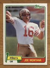 1981 Topps #216 Joe Montana - S.F. 49ers HoF ROOKIE RC - DEAD CENTERED - MINT
