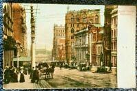 1900's postcard Beautiful Victorian era card Scene Queen Street Melbourne