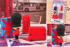 PUZZLE rubber eraser UK London Impression royal soldier double-decker bus flag