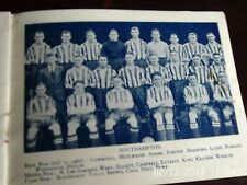Southampton & Swansea grupos de equipo 1934 B + W con línea-ups 9cm por 6cm Original