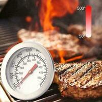 Barbecue BBQ Smoker Grill Thermometer Temperaturanzeige 50-500 Edelstahl F3B7