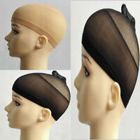 10pcs Hair Wig Cap Net Mesh Liner Stocking Stretching Breathable Unisex