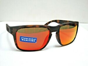 NWOT Oakley HOLBROOK Matte Tortoise Galaxy Ruby Iridium Polarized Sunglasses MEN