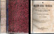 Toullier C.B.M.; IL DIRITTO CIVILE FRANCESE , vol.7 ; Pedone Lauriel Ed. 1855