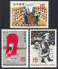 Japan 1971 Post Office/Railway/Postman 3v set (n27611)