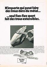 PUBLICITE   1970   FIXO-FLEX SPORT  bracelet extensible