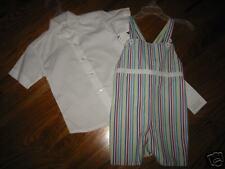 SB2/3 NWT 2T Strasburg 2pc stripe shortall & white top