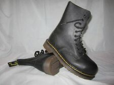Vintage Dr. Doc Martens Youth Black 10 Eye Steel Toe Boot Sz 4 MADE IN ENGLAND