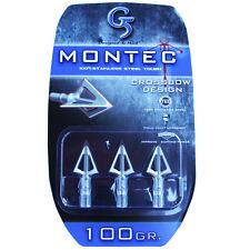 "G5 Broadhead Montec Crossbow 3pk 100 Grain 1 1/16"" Cut #00611 Stainless Steel"