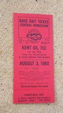 INDY CAR CART World Series original unused ticket Watkins Glen - August 3rd 1980