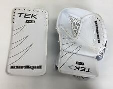 New Powertek Barikad Junior Ice Hockey Goalie Set blocker/glove White/Black