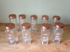 9 VTG  Glass SPICE JARS Crystal Food Products.