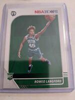 Romeo Langford 2019-20 Panini NBA Hoops Rookie Card RC No.211 Boston Celtics