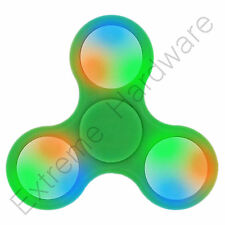 Green Tri-Wing LED Lights Fidget Finger Spinner Hand Focus EDC Steel Bearing UK