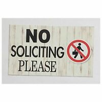 No Soliciting Business Door Sign Wall Plaque or Hanging House Country Modern