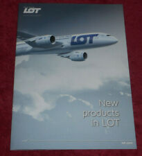 LOT Polish Airlines New Products Advertising Booklet + Boeing 787 Plane Brochure