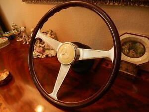 Mercedes 560SL Wood Steering Wheel DARK NARDI 300 SL Gullwing Horn Button