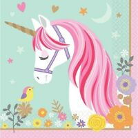 MAGICAL UNICORN LUNCH NAPKINS PACK OF 16 PARTY FAVOURS SUPPLIES